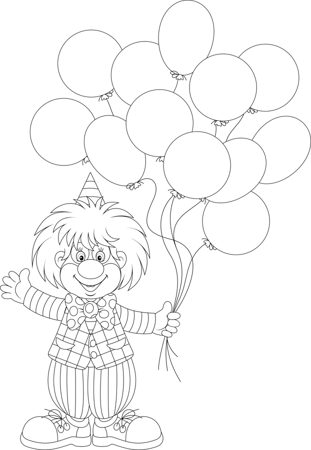 Coloring Pages - BoBo the Magic Clown - Todd Smeltzer aka BoBo